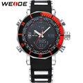 WEIDE Relógio Marca de Topo Homens Esportes Série Logo Luxo Multi-funcional Relógio de Quartzo Analógico Digital Alarme Cronômetro Grande Para homem