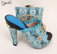 Capputine Latest Summer Nigerian Shoes And Matching Bags Italian Ladies Shoes And Bags To Match Set African Wedding Party Shoes