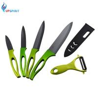 Upspirit 5 Pcs/Set Multifunction Zirconia Ceramic Knife Paring Slicing Utility With Peeler Home Kitchen Knives Cooking Tools