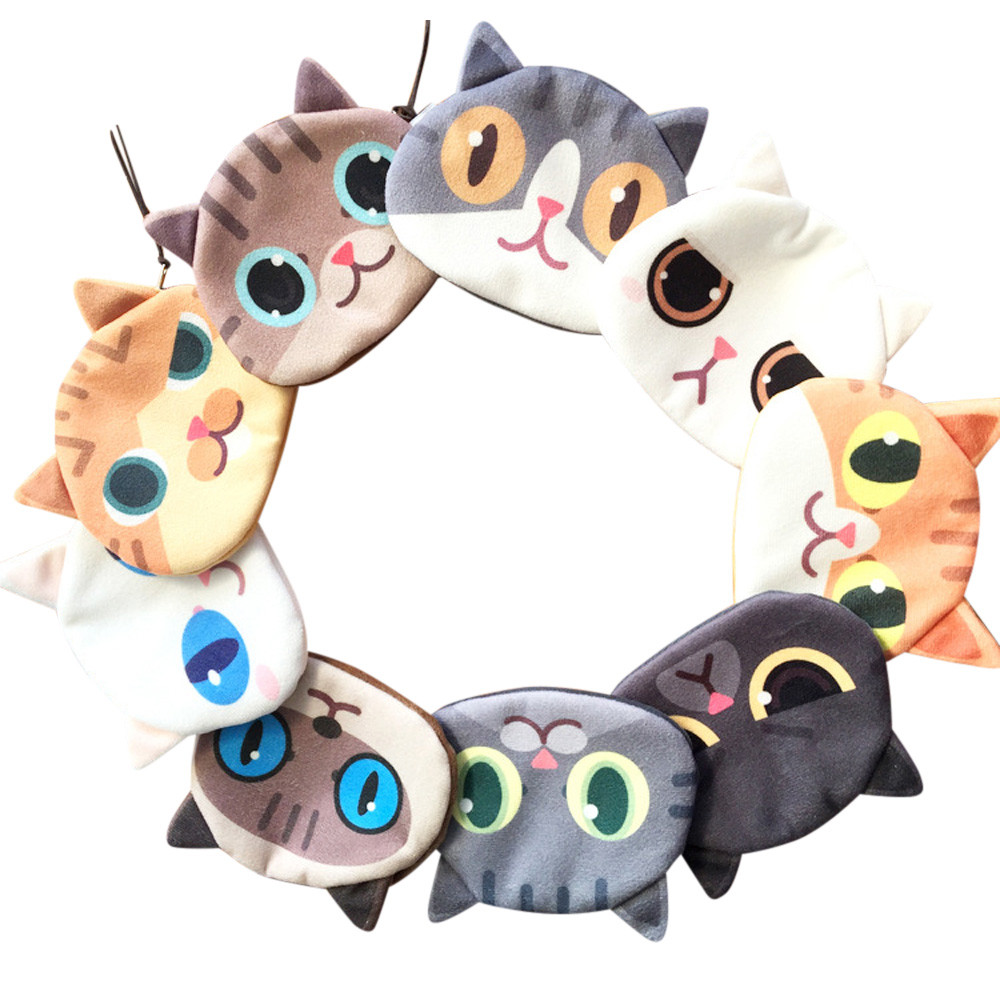 Aelicy 2018 Top Fashion 3D Cute Cat Face Printing Zipper Coin Purses Cotton Fabric Cartoon Cute Coin Wallets Small Storage Pouch