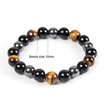 Bracelet Oeil De Tigre Hematite Et Obsidienne