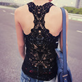 ZANZEA 2017 Summer Women Tank Top Back Lace Hollow Out Sexy Vest Lady Casual Solid Sleeveless Shirt Camis Plus Size S-3XL