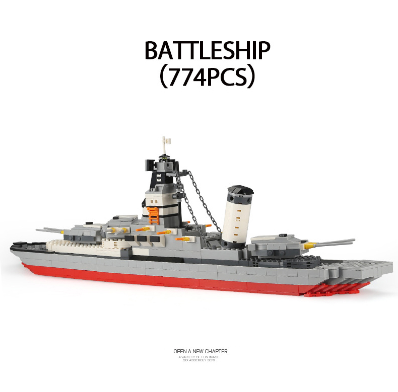 Modern military ww2 Battleship model building block world war ship legoeinglys brick navy figures toys collection for boys gifts цена