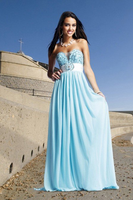 Y Evening Wear Sky Blue Color Formal Dress Whole Bz0830096 In Dresses From Weddings Events On Aliexpress Alibaba Group