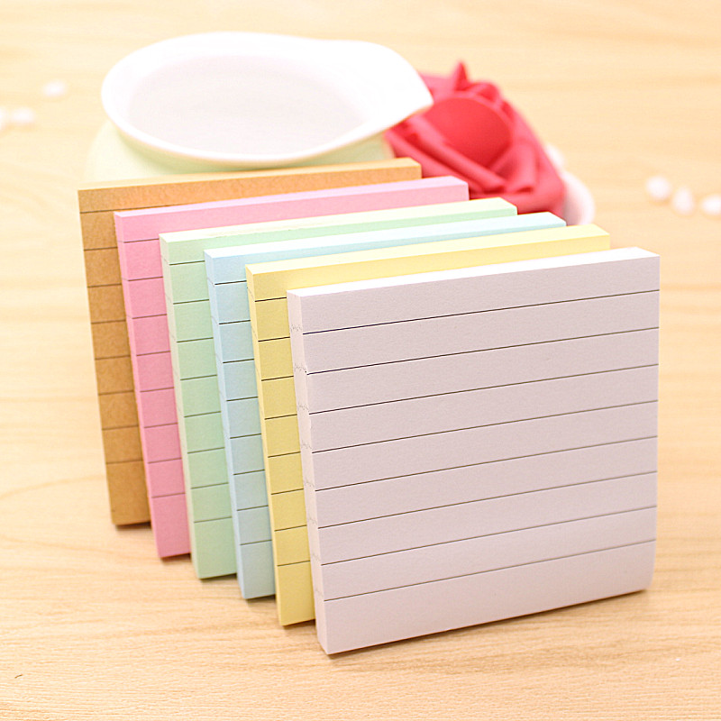 80Pages/Set Soild Color Memo Pad Diy Post It Kawaii Stationery School Stationery Set Office Supplies Notepad Cute Sticky Notes rainbow northern europe memo pad paper sticky notes notepad post it stationery papeleria school supplies material escolar