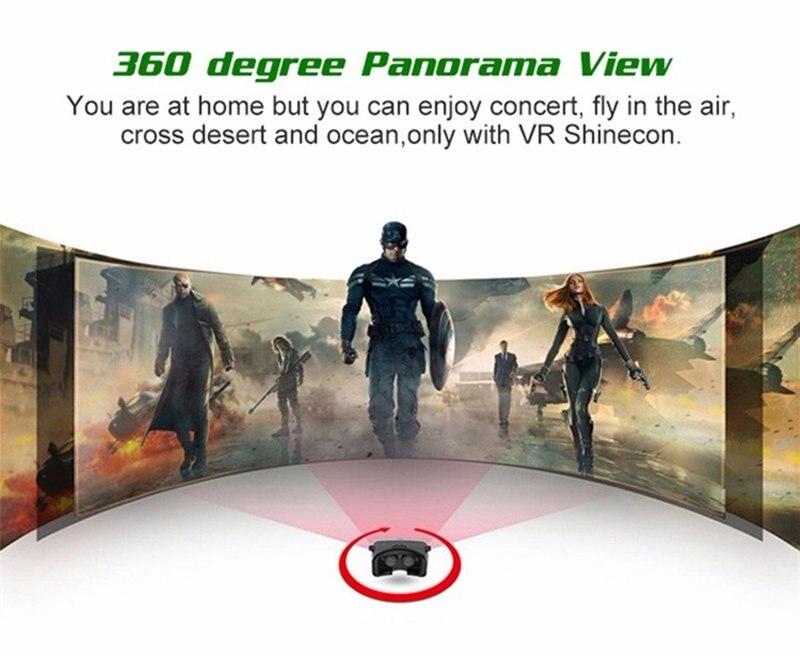 VR SHINECON original leather 3D google cardboard virtual reality VR glasses  xnxx for iPhonex xiaomi 4-6 mobile phone