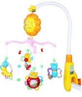 Brand Baby Rattles Musical Rotation Cartoon Animal Design Colorful High Quality Adjustable Kid Toys 0 12