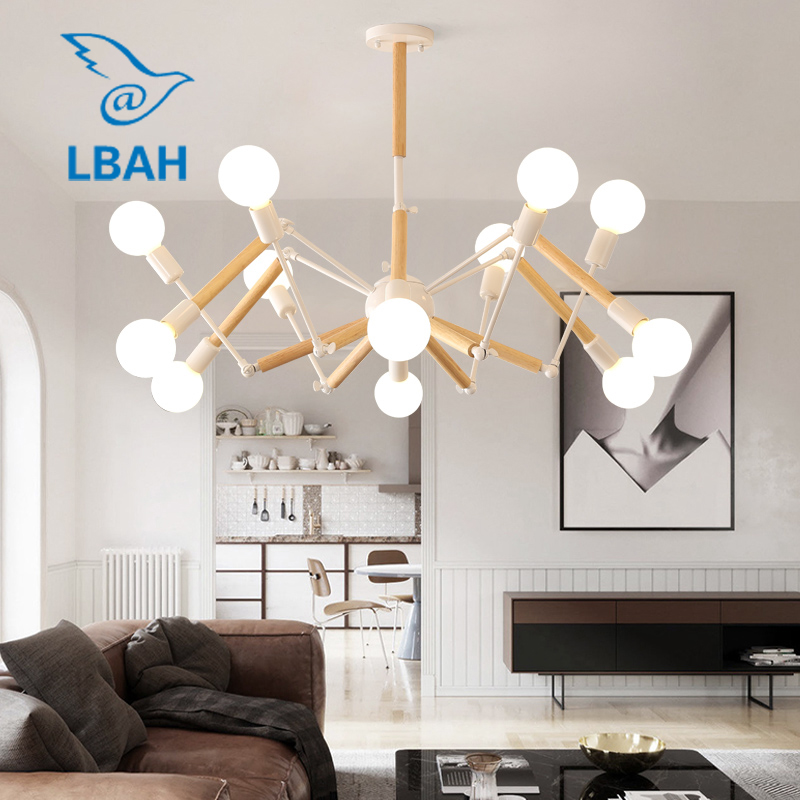 chandelier Nordic industrial style post-modern simple creative personality dining room living room bedroom balcony led ledchandelier post modern minimalist living room nordic creative bedroom dining room lights abaju