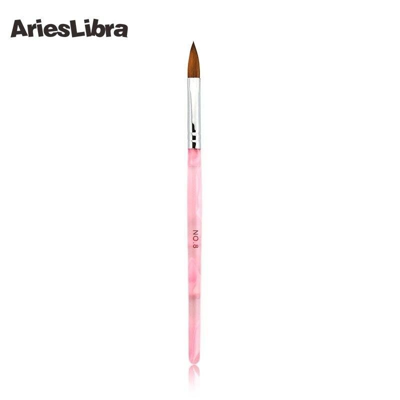 AriesLibra 1PC size 8# Kolinsky Sable Brush Acrylic Nail Art Brushes ...