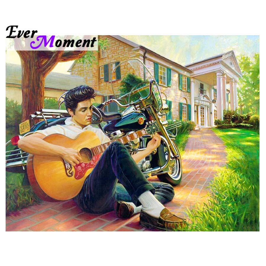 Ever Moment Diamond Painting Elvis Music Diamond Embroidery Full Mosaic Rhinestones Wall Painting Memory of Old