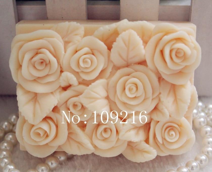 ¡venta al por mayor !! 1pcs Square Rose (zx78) Silicone Handmade - Artes, artesanía y costura