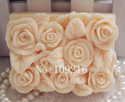 Wholesale 1pcs square rose zx78 silicone handmade soap mold crafts diy mould.jpg 250x250