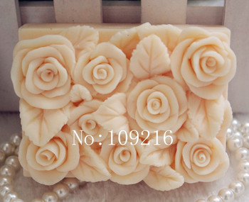 Wholesale 1pcs square rose zx78 silicone handmade soap mold crafts diy mould.jpg 350x350