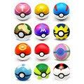 4 pçs/lote Pokemon Pokeball ABS Fifures Brinquedo Pokemon Pikachu Anime Figuras de Ação Brinquedos Super Master 7 cm Pokemon Brinquedos Bola