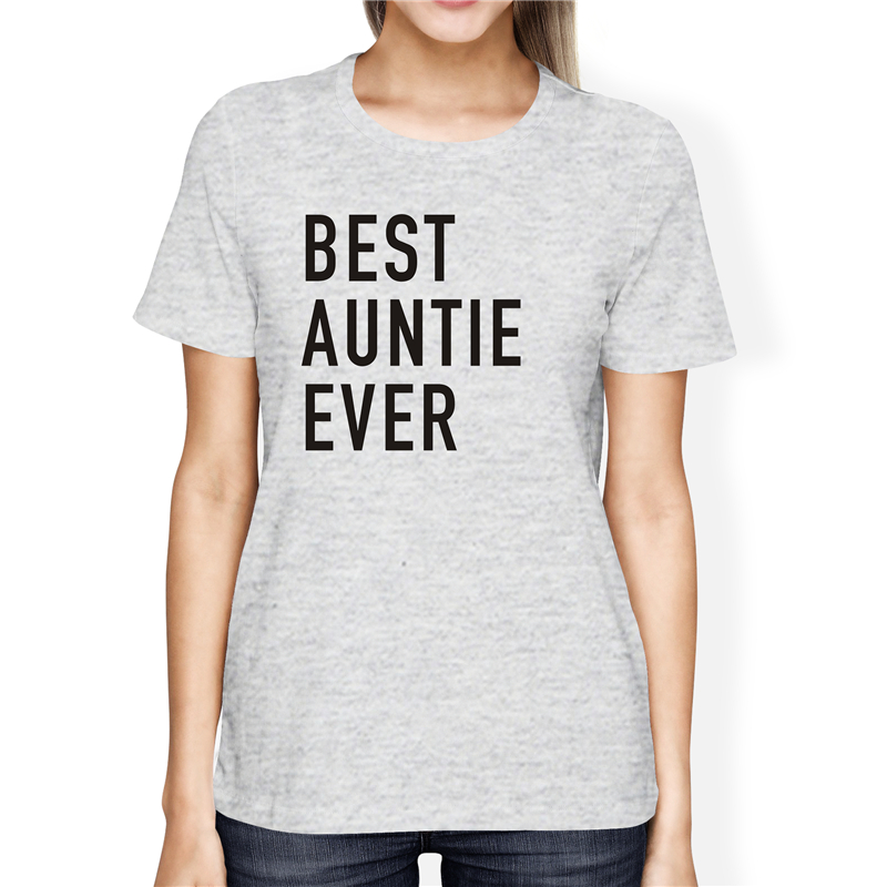 SexeMara 2018 New Women cotton BEST AUNTIE EVER black o-Neck Fashion Letter women short t-shirt
