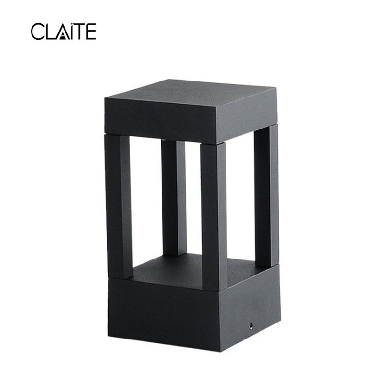 CLAITE Garden Light LED Lawn lamps Outdoor Waterproof Modern Aluminum Square Lamp for Garden Lawn Gate Park Landscape Decoration aluminum square lawn lamp led modern simple garden lights outdoor landscape park lights