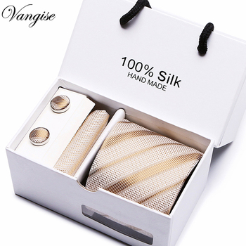 Fashion Wedding striped Necktie & Pocket Square Towel & Bow Tie Set Mens Suit Papillon Corbatas Handkerchief Tie gravata casual twill stripe pattern tie pocket square bow tie