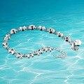 Frete grátis, 925 prata pulseira do sexo feminino, delicada pulseira de pequenos animais bonitos, presente da moda