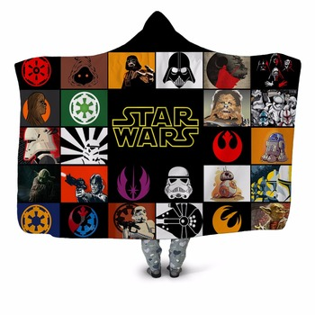Star Wars 3D Printed Hooded Blanket 1