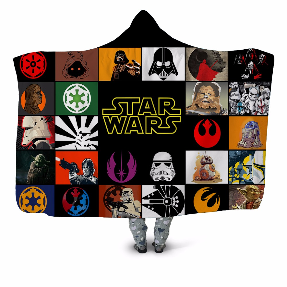 Star Wars 3D Printed Plush Home Office Textile Hooded Blanket for Adults Children Washable Warm Sofa Velet Fleece Throw Blanket Star Wars 3D Printed Plush Home Office Textile Hooded Blanket for Adults Children Washable Warm Sofa Velet Fleece Throw Blanket