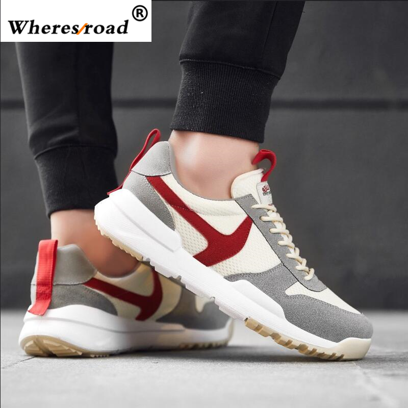 aa12c72d10ad4 Wheresroad 2018 High Top Mens Mesh Casual Shoes Fashion Loafers Sneakers  Human Race Luxury Brand Men Summer Oxford Men Shoes