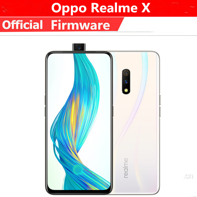 Original Oppo Realme X 4G LTE Mobile Phone Snapdragon 710 Android 9.0 6.53″ 2340X1080 8GB RAM 128GB ROM 48.0MP Fingerprint