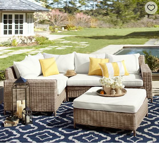 hot sale nice outdoor patio furniture large sectional sofa wicker sofa sets