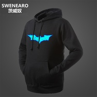 SWENEARO Glow in The Dark Batman Hoodie Man Women Men Kawaii Long Sleeve 3D Hoody Neon Couples Matching Clothing Tracksuits Tops
