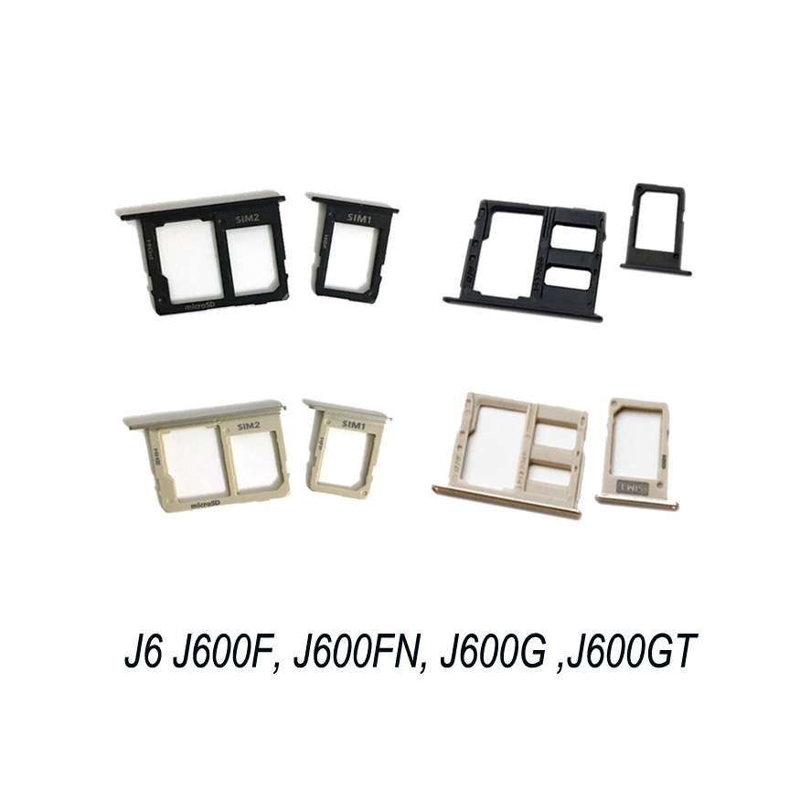For Samsung Galaxy J6 2018 SM-J600F J600F J600G J600FN J600 Original Phone Housing SIM Tray Adapter Micro SD Card Tray Holder
