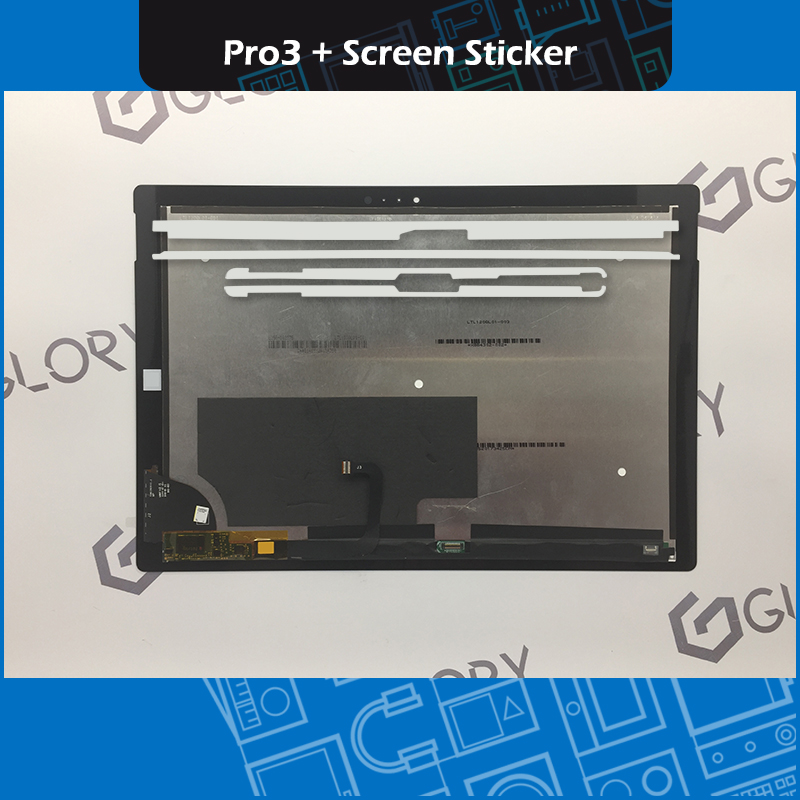 New LCD Display Touch Screen Assembly TOM12H20 V1.1 with Screen Sticker Adhesive Tape For Microsoft <font><b>Surface</b></font> <font><b>Pro</b></font> <font><b>3</b></font> (<font><b>1631</b></font>) image