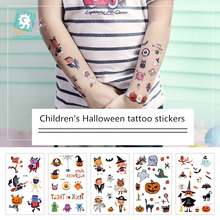 The latest Halloweens Temporary tattoo stickers, Horrible Pumpkin Head Design For Boys and Girls Cartoon Tattoo