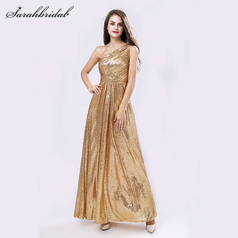 New Arrivals Backs Rose Gold Sequined   Bridesmaid     Dresses   Real Pictures A line Backless Mermaid Party Gown Vestido SLD421