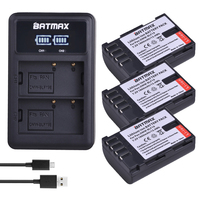 Pcs 1860 mah DMW BLF19 3 DMW BLF19E BLF19 BLF19E BLF19PP Bateria + LED Dual USB Carregador para Panasonic Lumix GH3 GH4 GH5 DMC GH3 Baterias digitais     -