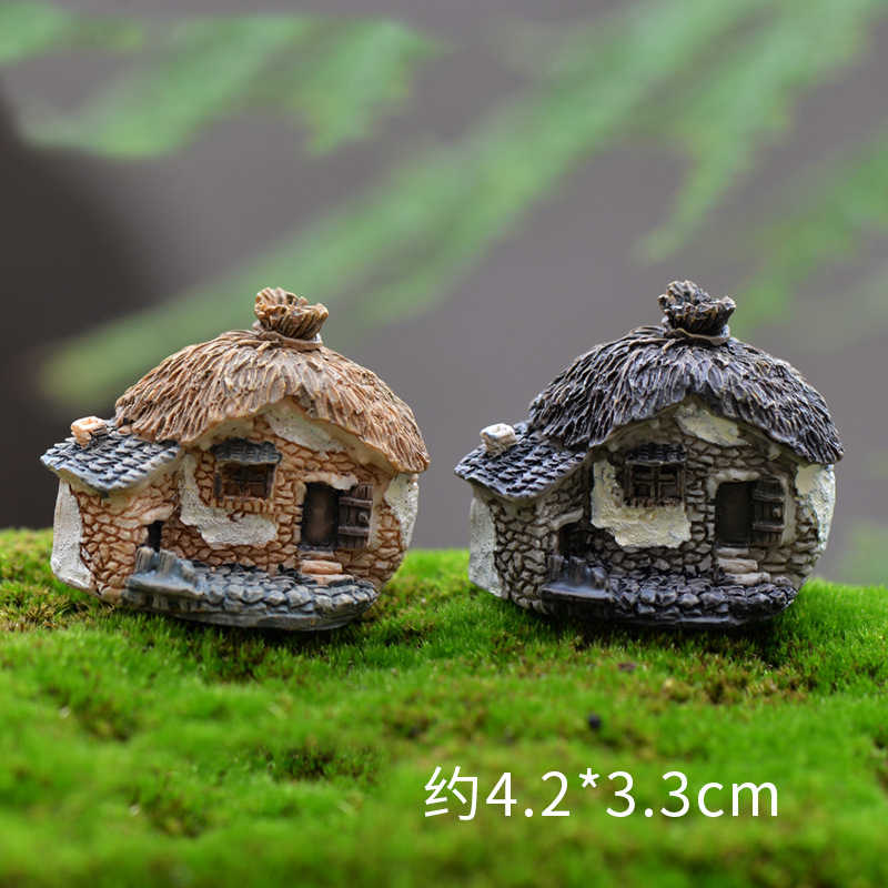 1PC Mini Small House Cottages DIY Toys Crafts Figure Moss Terrarium Fairy Garden Ornament Landscape Decor Home Decor