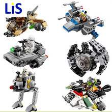 2016 Горячие Продажа 1 шт. ЛЕПИН Star Wars Блоки Micro Бойцов Войны Клонов Звездные Войны Космический Корабль Классический Цифры Совместимо Legoe Истребитель