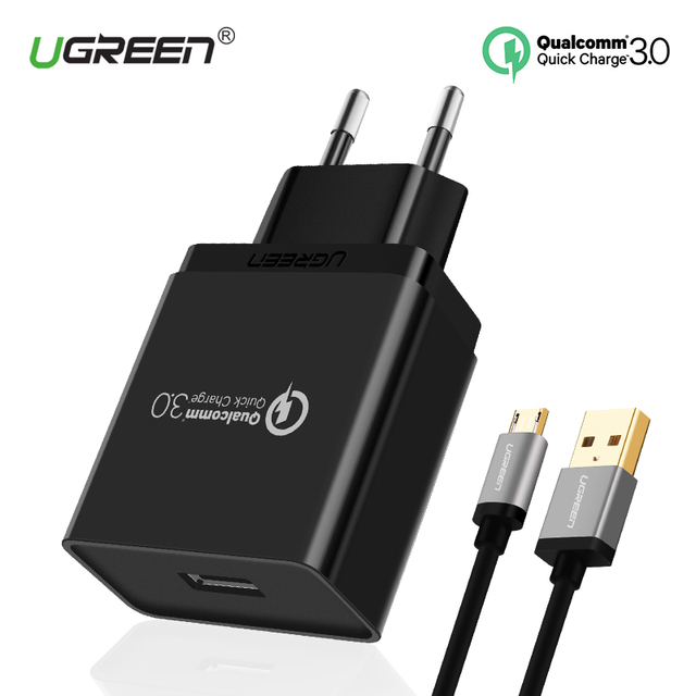 Samsung S8 Charging Adapter Laptop Usb Monitor Adapter Wifi Adapter Kmart Adapter Do Gniazdka Uk Media Markt: Ugreen USB Charger 18W Quick Charge 3.0 Mobile Phone