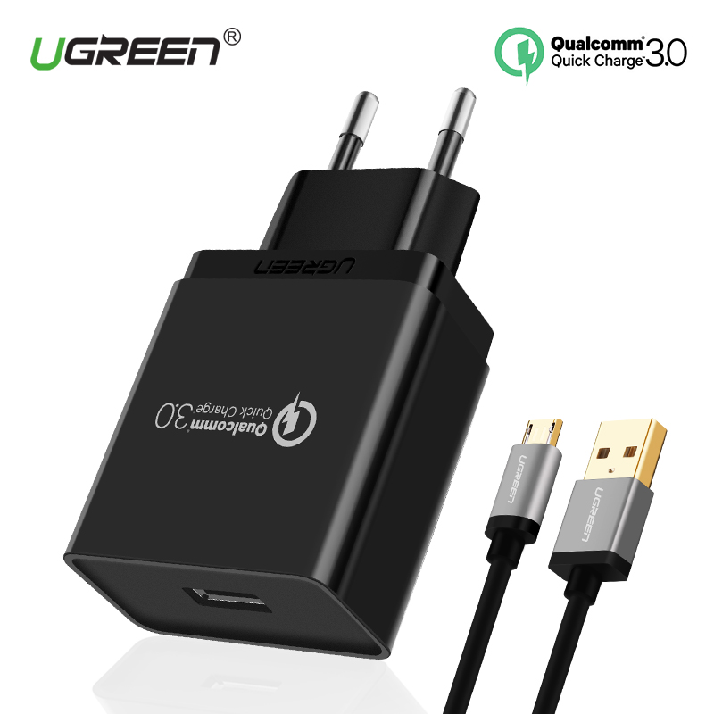 Ugreen USB Charger 18W Quick Charge 3.0 Mobile Phone Charger for iPhone Fast Charger Adapter for Huawei Samsung Galaxy S8/S8+