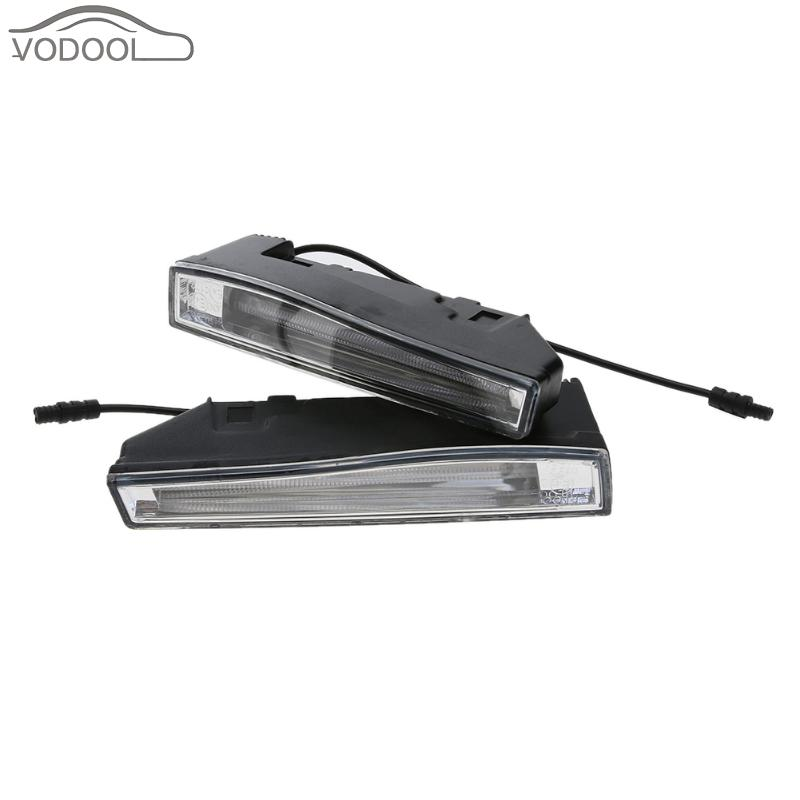 2Pcs Universal 12V 12W Auto Car LED Daytime Running Light Waterproof Automobiles Light-emitting Diode Driving DRL Lamp brand new universal 40 w 6 inch 12 v led car work light daytime running lights combo light off road 4 x 4 truck light
