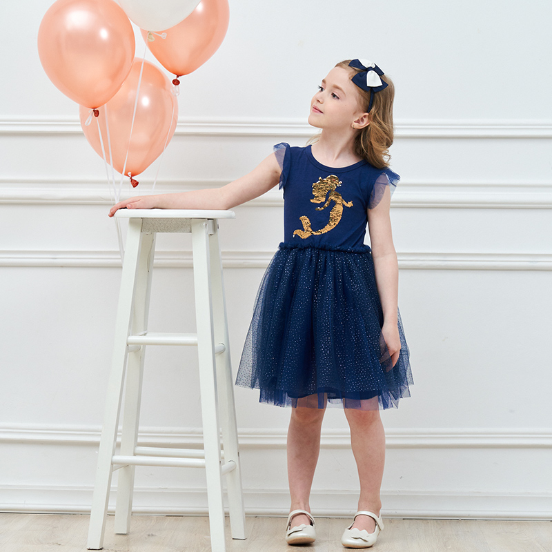 Yaz Unicorn Ürək Dizayn Sequins Princess Tutu Qızlar üçün Dress