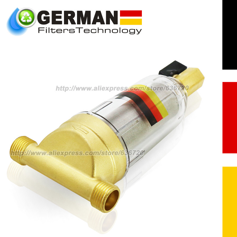 цена на Designed by Germany1/2 Inch Copper Port Cleaner Filter Household Whole House Water Filter Pipes Central Water Purifier Descaling