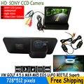 Sony CCD HD cámara de visión trasera con Monitor plegable para VW GOLF 4 5 6 MK4 MK5 EOS LUPO PASSAT BEETLE PHAETON SCIROCCO Superb