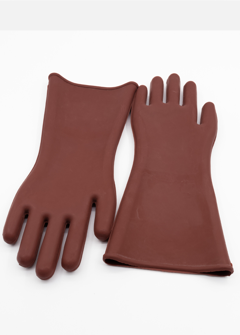 Купить с кэшбэком Free shipping hot-selling 40cm lengthen 12KV insulating nature rubber work gloves  for power line transmission line work protect