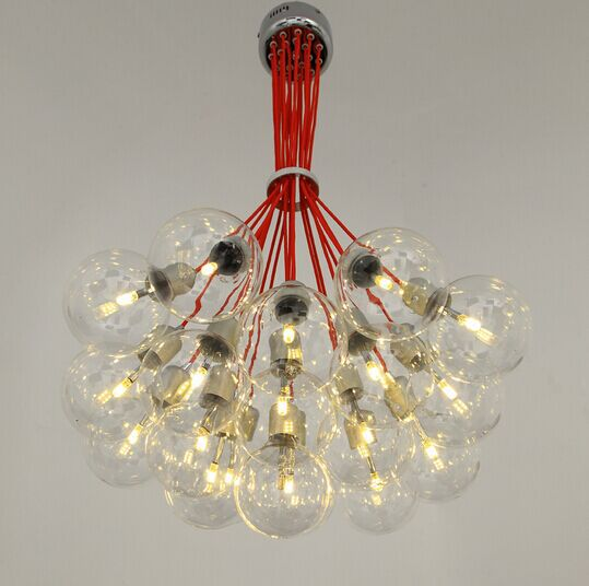 Free Ship Multi Head Of The Red Bubble Chandelier Pendant Lamp For Decor Sitting Room Bedroom Restaurant Study Not Include Bulbs In Lights From
