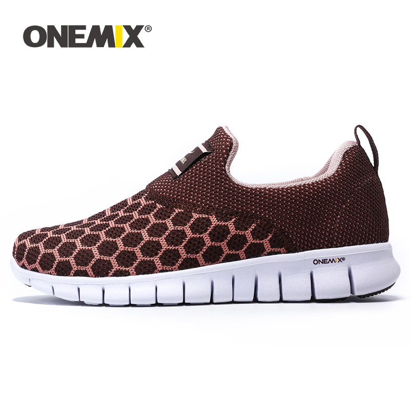 ONEMIX Summer Sock Flat Shoe Ladies Sandals Breathable Air Mesh Ultra Boosts Women Casual Vulcanized Tennis Shoes Sport Trainers