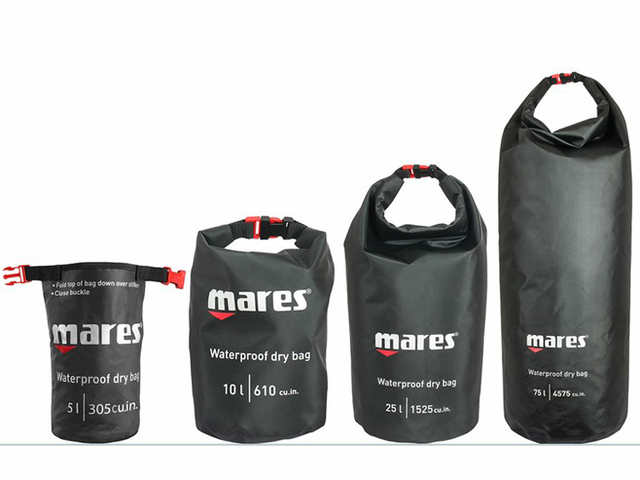 Mares 10l 25l Waterproof Dry Bag For Water Sport Spearfishing Diving Boat