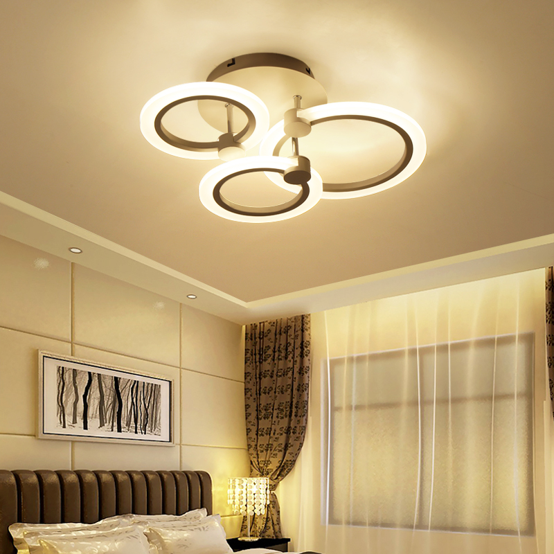 Modern Led Ceiling Lights Remote Control Aluminum Lighting For Bedroom Living Room Indoor Lamp Fixture Plafond In From