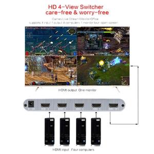 Image 2 - 4X1 HDMI Multi viewer HDMI Quad Schermo in Tempo Reale Multiviewer con HDMI Switcher senza soluzione di continuità 1080p HD IR HDMI interruttore