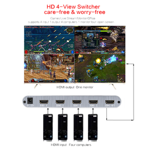 Image 2 - 4X1 HDMI Multi viewer HDMI Quad Screen Real Time Multiviewer with HDMI seamless Switcher 1080p HD IR HDMI Switch