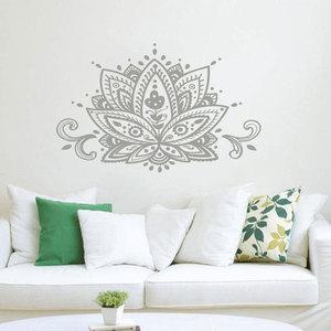 Image 1 - Lotus Flower Wall Decal Namaste Mandala สติ๊กเกอร์ติดผนัง Boho Bohemian ตกแต่งบ้านอินเดียรูปแบบโยคะสตูดิโอ Wall Art ภาพจิตรกรรมฝาผนัง MTL15