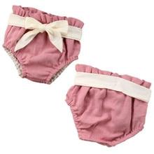 Хлопковые шорты-штаны с карманами для маленьких мальчиков и девочек, подгузники, шаровары с бантом